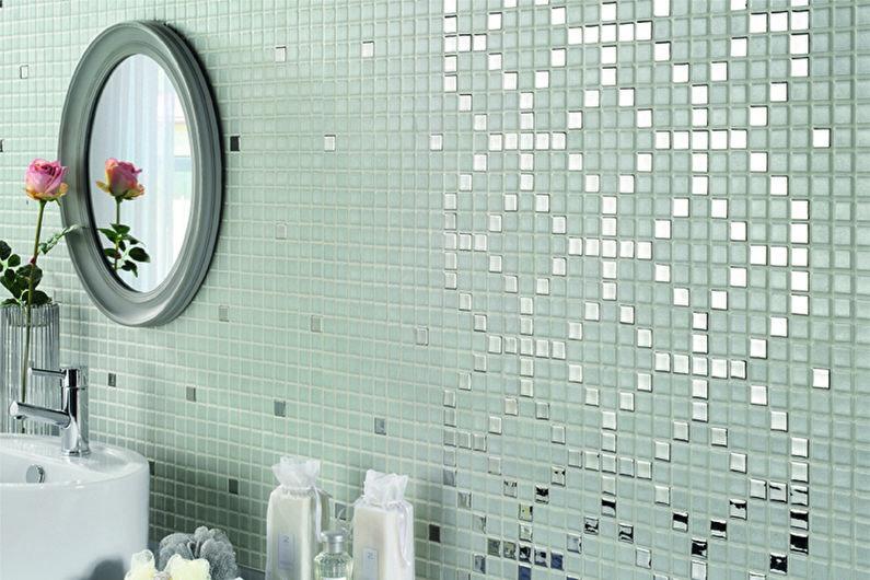 Материалы для отделки стен в ванной комнате - Стеклянная плитка