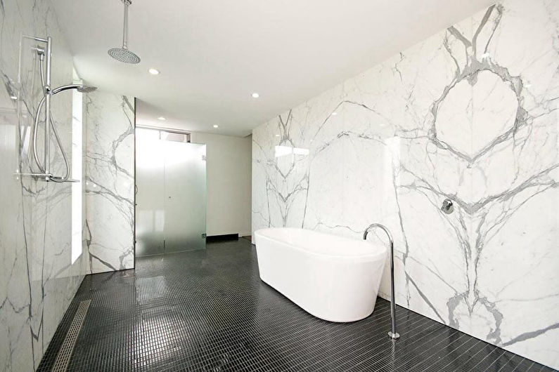 Материалы для отделки стен в ванной комнате - Мрамор