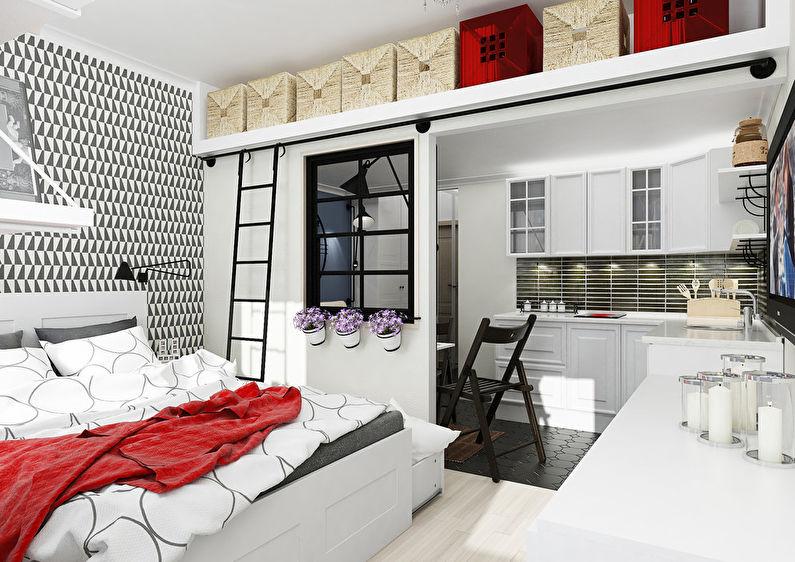 Квартира студия дизайн 25 кв м