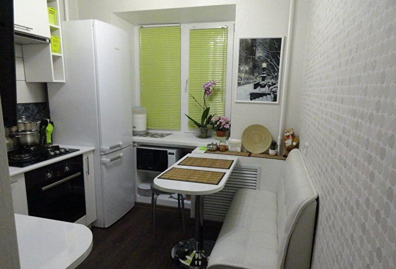 Квадратная маленькая кухня - дизайн интерьера