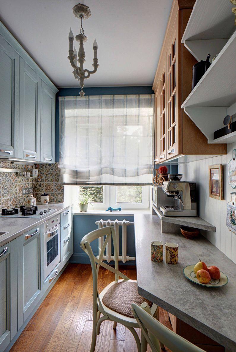 Узкая (прямоугольная) маленькая кухня - дизайн интерьера