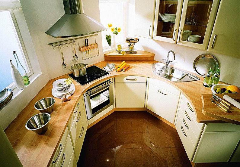 Маленькая кухня нестандартной формы - дизайн интерьера