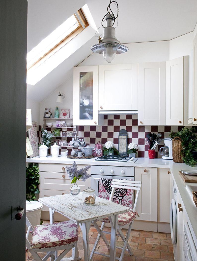 Маленькая кухня в стиле кантри - дизайн интерьера