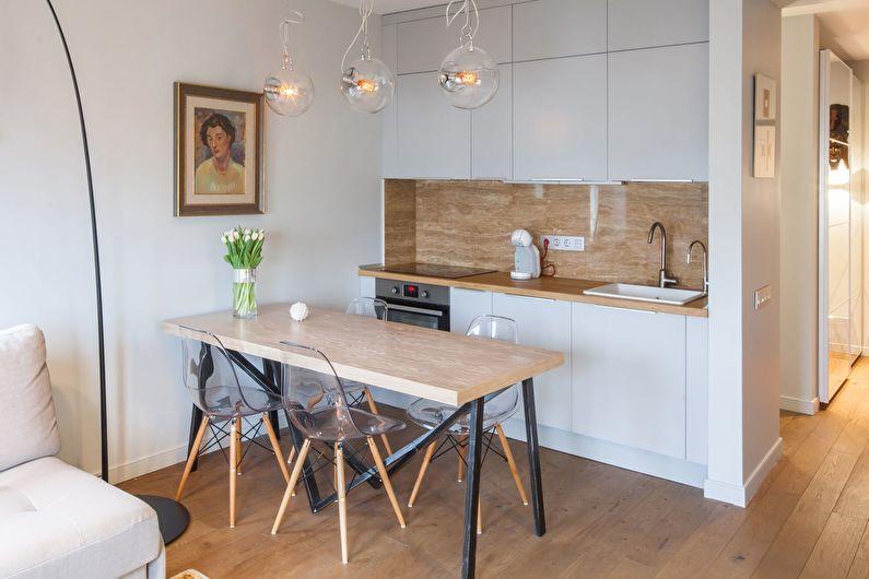 Маленькая кухня в скандинавском стиле - дизайн интерьера