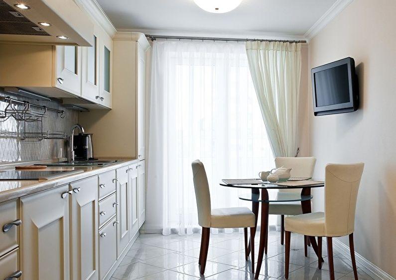 Маленькая кухня - дизайн пола