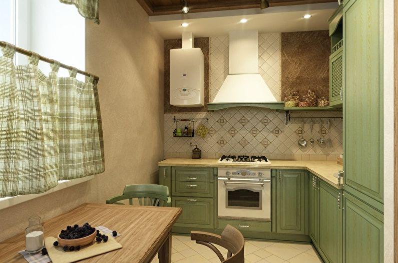 Маленькая кухня - шторы и текстиль