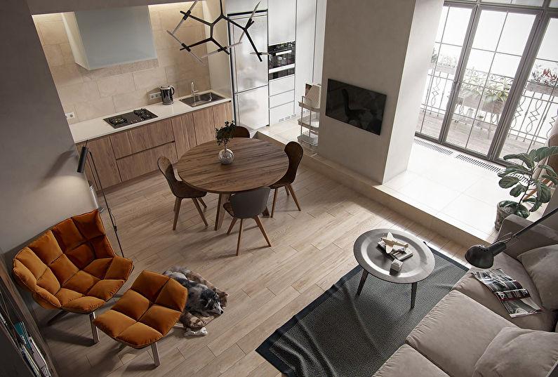 Обеденная зона - дизайн маленькой кухни