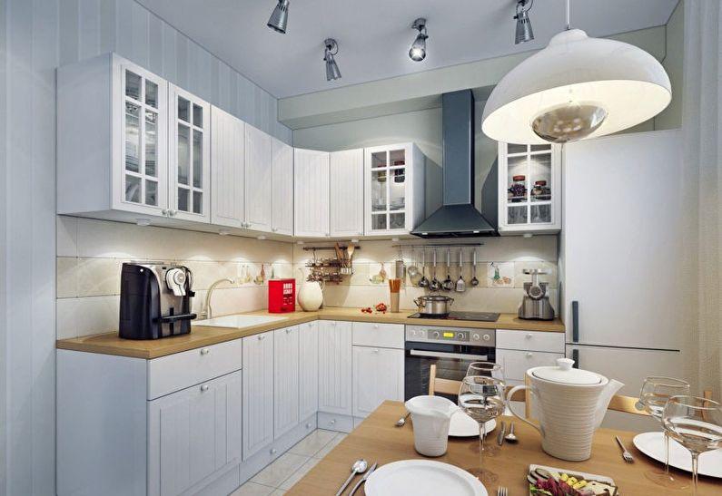 Освещение - дизайн маленькой кухни