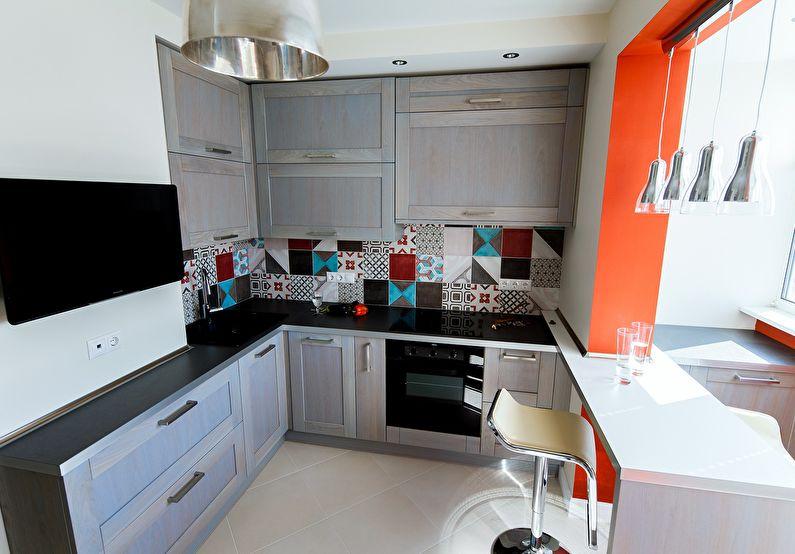 Совмещение маленькой кухни с балконом или лоджией - дизайн интерьера