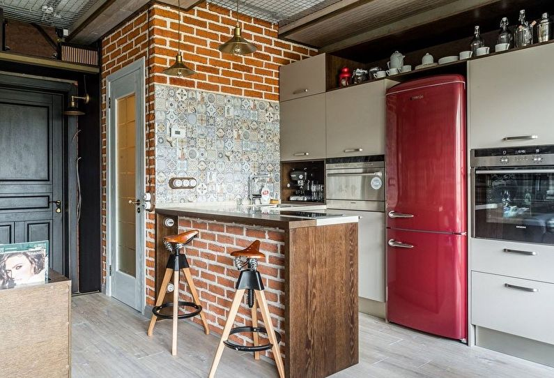 Дизайн интерьера маленькой кухни - фото