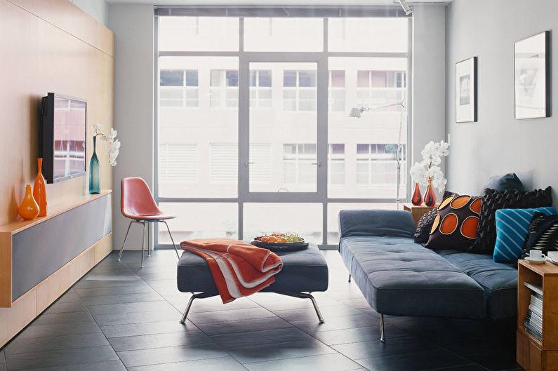 Дизайн гостиной 18 кв.м. в современном стиле