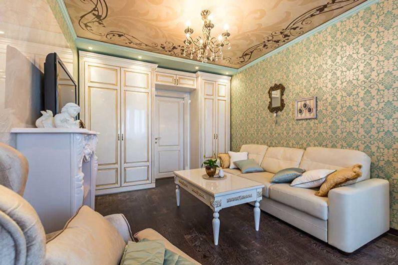 Дизайн гостиной 18 кв.м. в классическом стиле