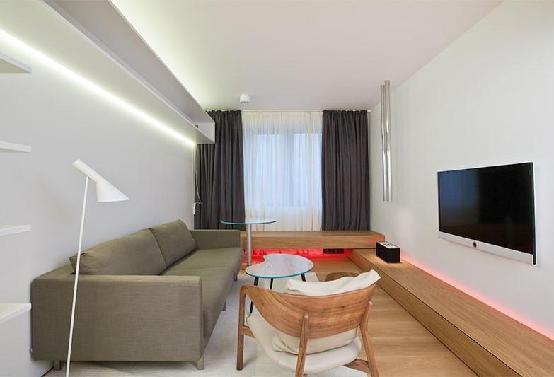 Дизайн гостиной 18 кв.м. в стиле минимализм