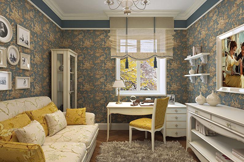Дизайн гостиной 18 кв.м. в стиле прованс