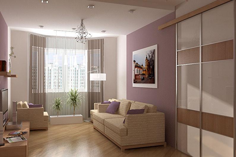 Гостиная 18 кв.м. - дизайн пола