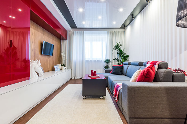 Гостиная 18 кв.м. - отделка стен
