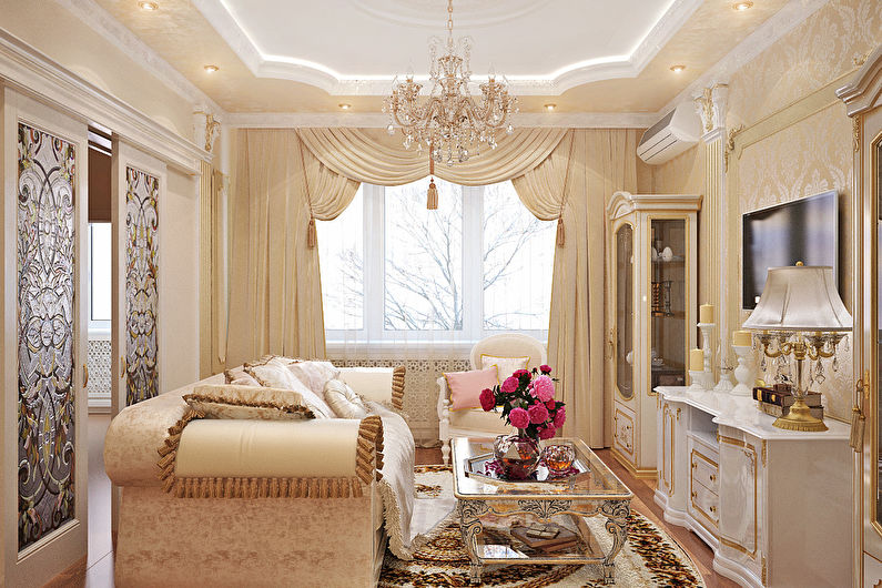 Дизайн гостиной площадью 18 кв. м. - украшения и текстиль