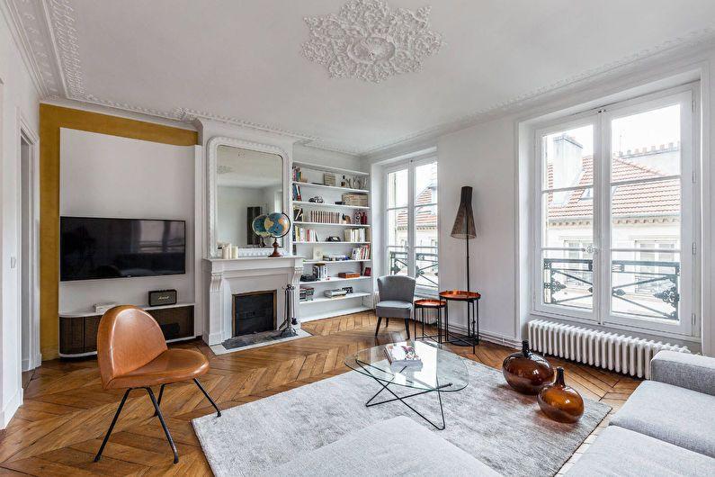 Дизайн гостиной 20 кв.м. в классическом стиле