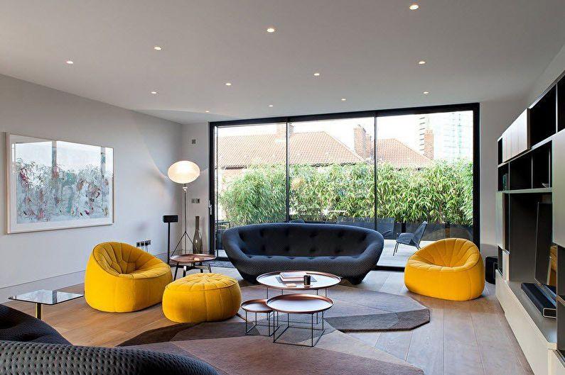 Дизайн гостиной 20 кв.м. в современном стиле