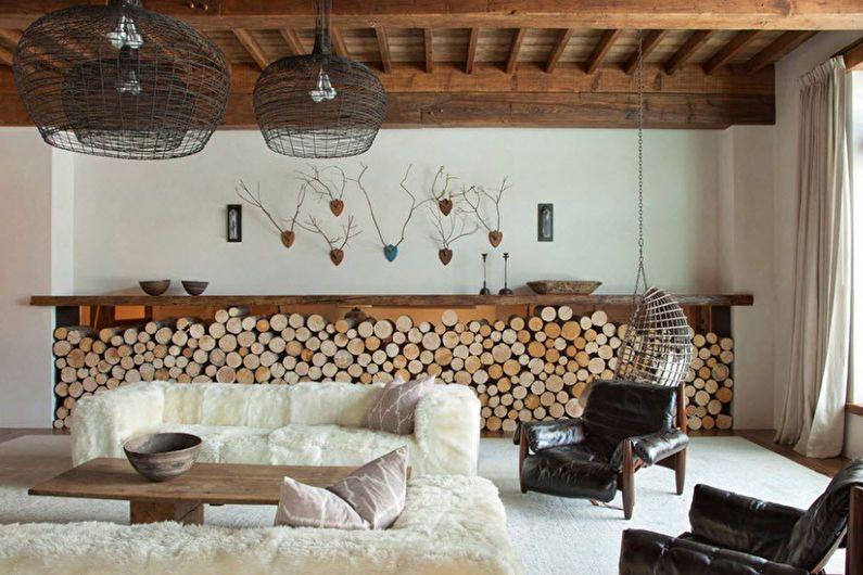 Дизайн гостиной 20 кв.м. в эко-стиле