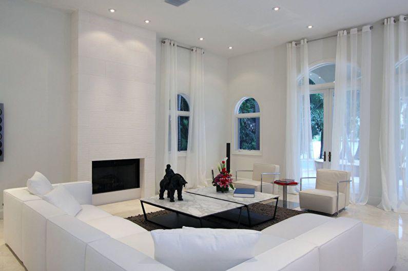 Дизайн гостиной 20 кв.м. в стиле минимализм