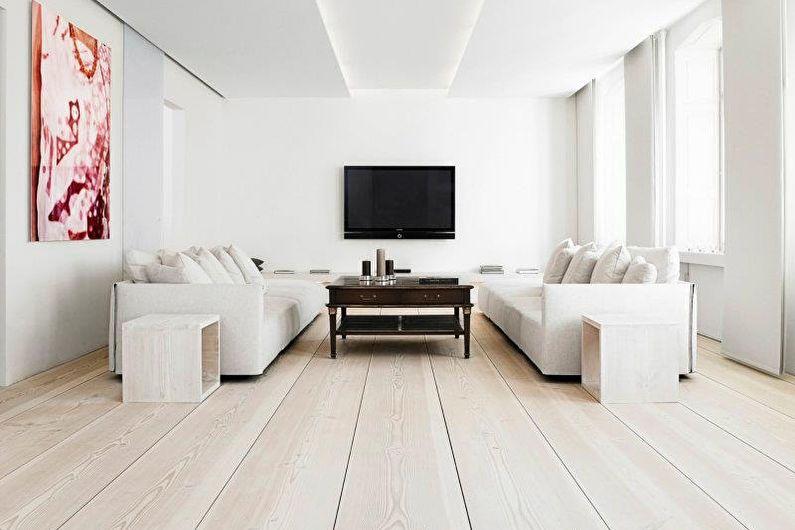 Дизайн гостиной 20 кв.м. - отделка пола