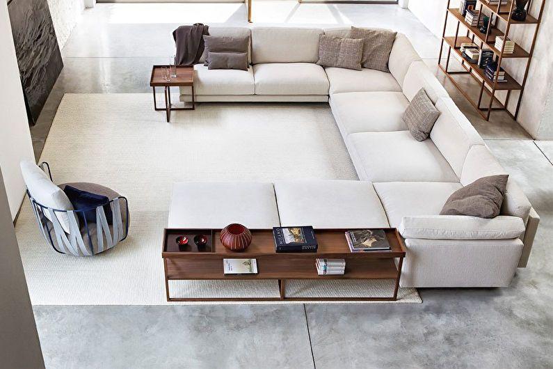 Как расставить мебель в гостиной 20 кв.м.