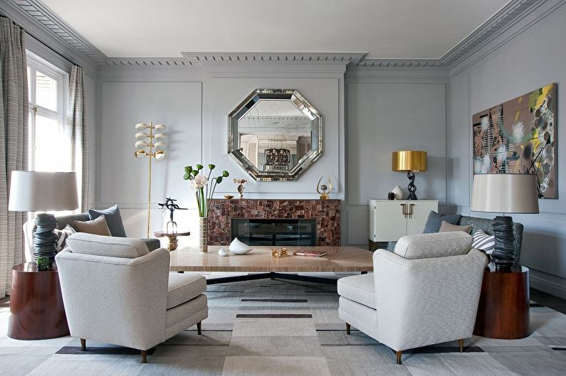 Дизайн интерьера гостиной 20 кв.м. — фото
