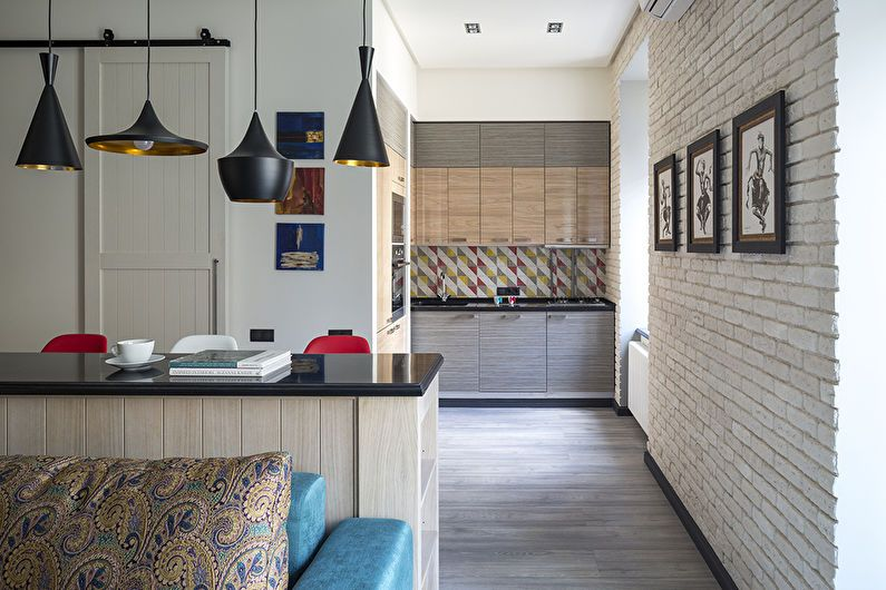 Дизайн интерьера однокомнатной квартиры, Москва