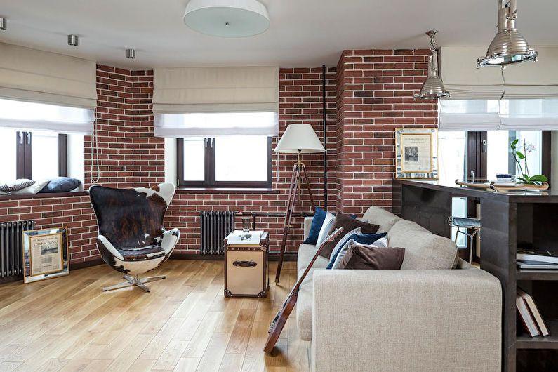Дизайн однокомнатной квартиры в стиле лофт
