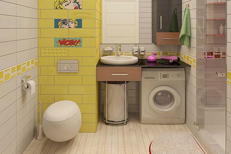 Дизайн однокомнатной квартиры в стиле поп-арт