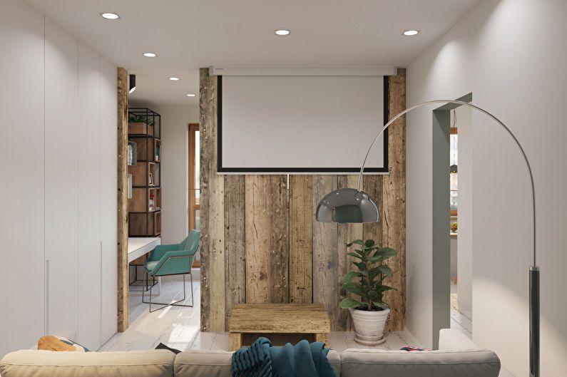 Дизайн однокомнатной квартиры в стиле минимализм