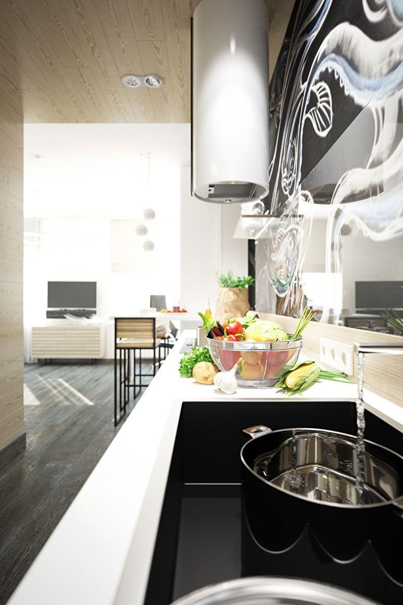 Дизайн однокомнатной квартиры от студии Galaxio