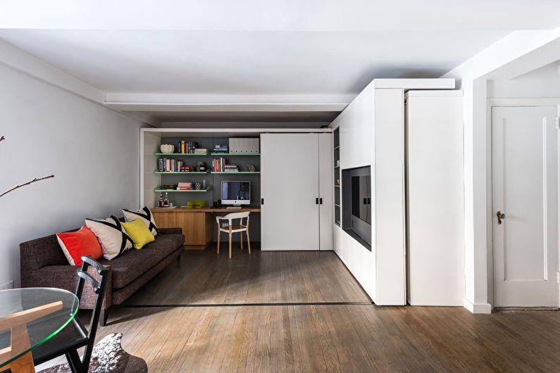 Дизайн однокомнатной квартиры, Нью-Йорк