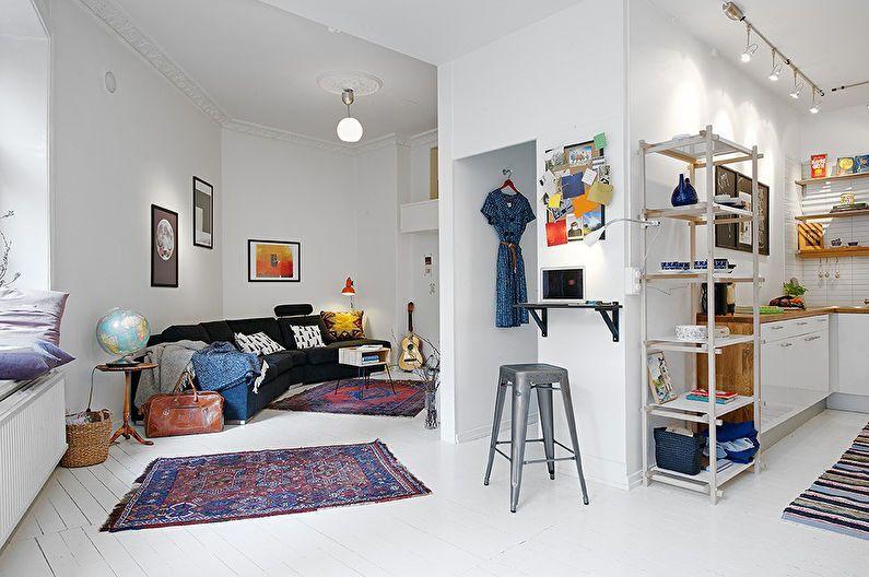 Дизайн квартиры-студии - стили интерьера