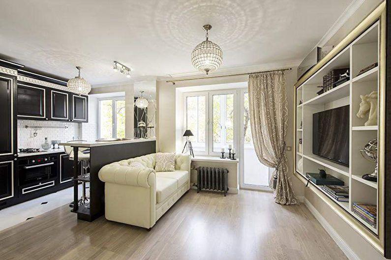 Дизайн квартиры-студии - 75 фото, идеи интерьеров