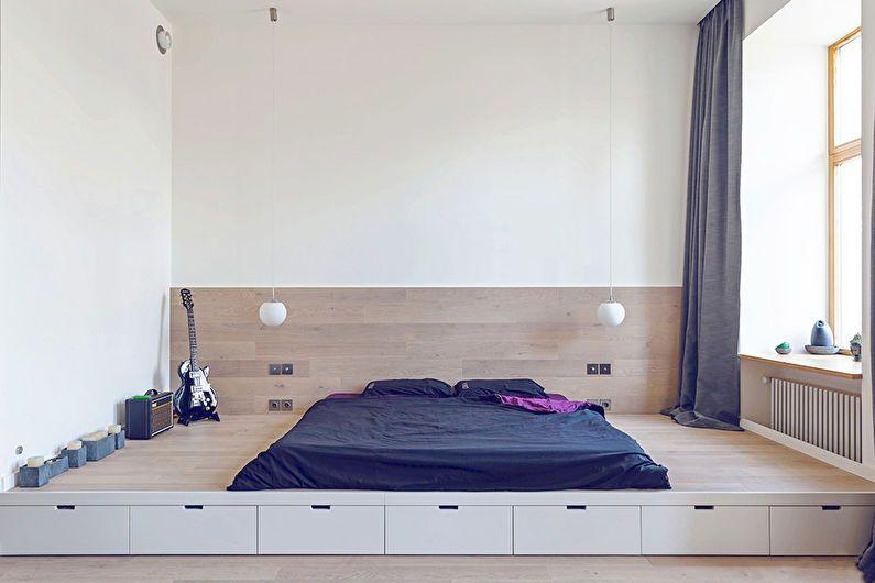 Дизайн спальни в квартире-студии