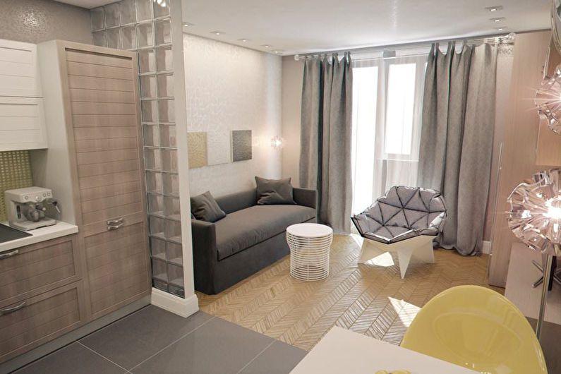 Дизайн квартиры-студии - отделка пола