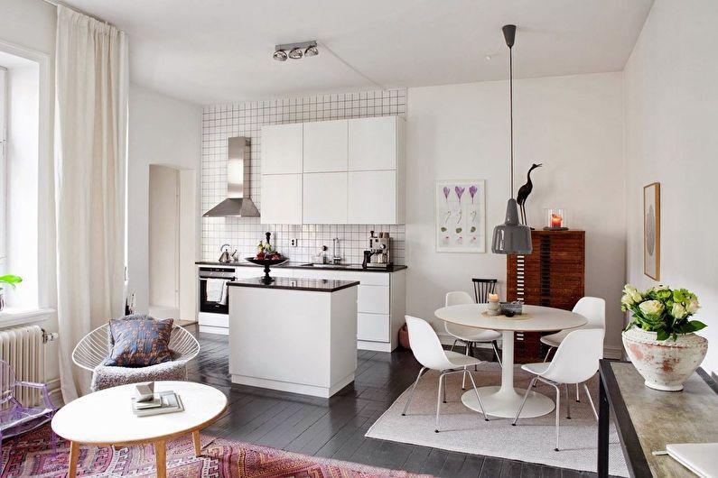 Дизайн квартиры-студии - цветовая палитра