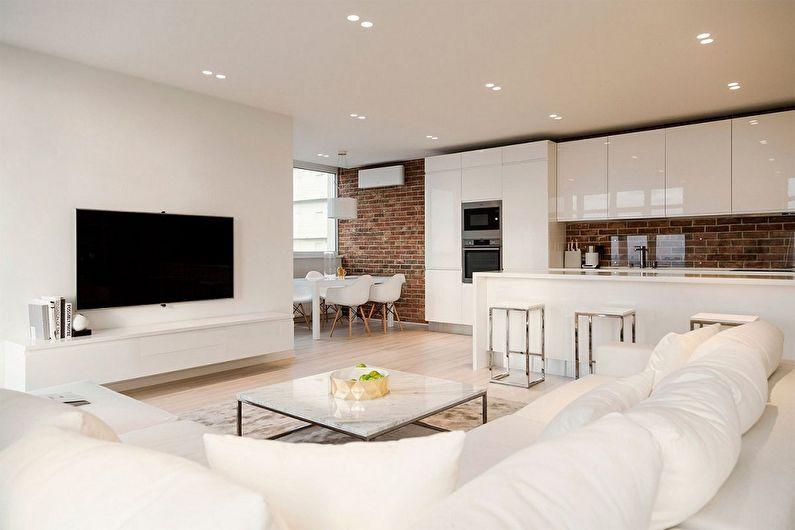 Дизайн квартиры-студии - как расставить мебель