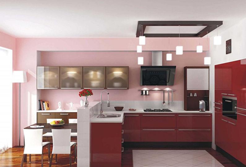 Отделка стен на кухне - Покраска