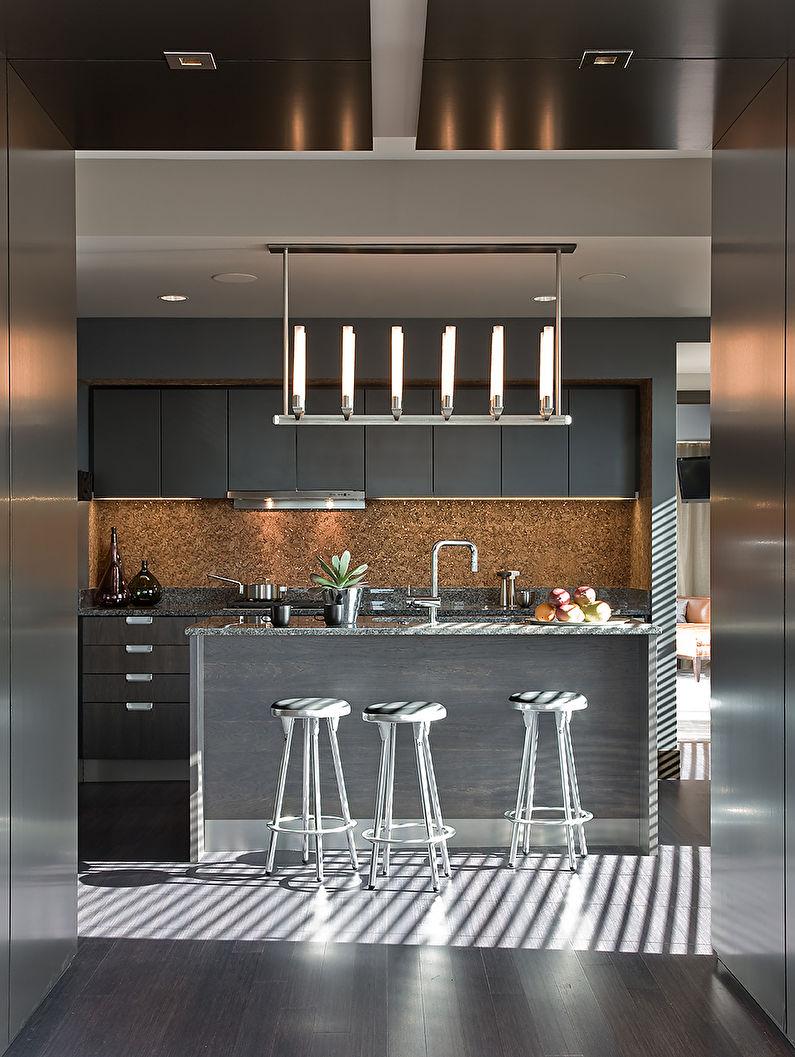 Отделка стен на кухне - Пробковые покрытия