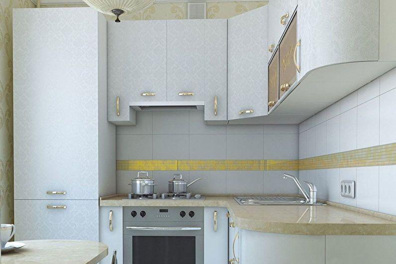 Дизайн кухни 6 кв.м. в современном стиле