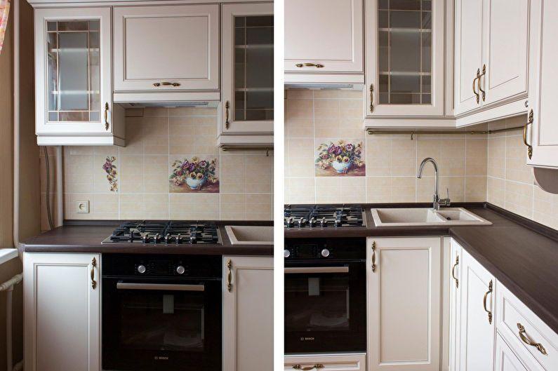 Дизайн кухни 6 кв.м. в классическом стиле