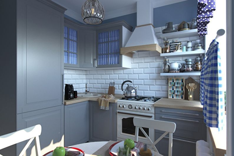 Дизайн кухни 6 кв.м. в стиле прованс