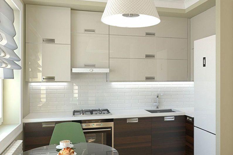 Современный дизайн кухни 6 кв