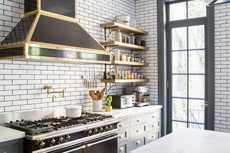 Дизайн кухни 6 кв.м. в стиле лофт