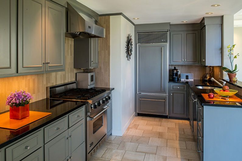 Дизайн кухни 6 кв.м. - пол