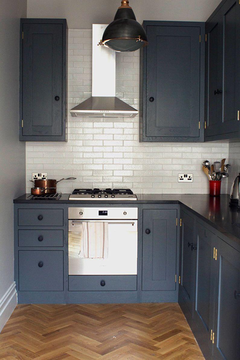 Дизайн кухни 6 кв.м. - отделка стен