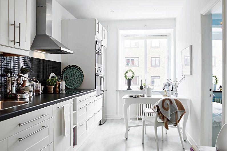 Дизайн кухни 6 кв.м. - отделка потолка